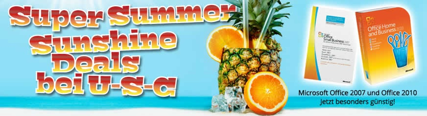 Super Summer Sunshine Deals bei U-S-C