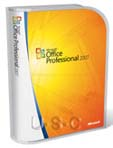 Microsoft Office 2007 Professional, Upgrade, Retail