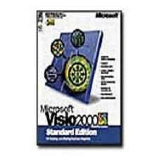 Microsoft Visio 2000 Standard, Vollversion, Retail, Deutsch